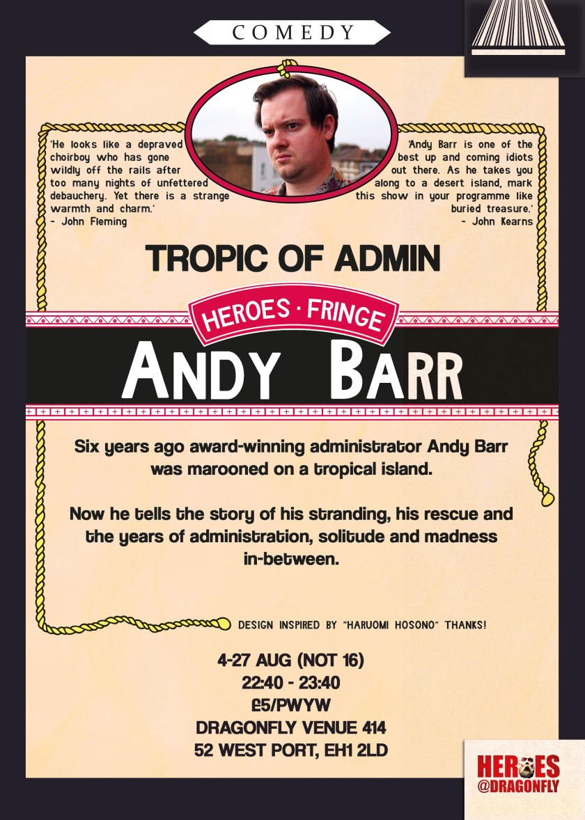 Andy Barr - Tropic Of Admin (2017) Flyer Back