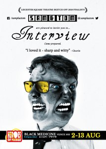 Sam and Tom Interview Edinburgh Fringe