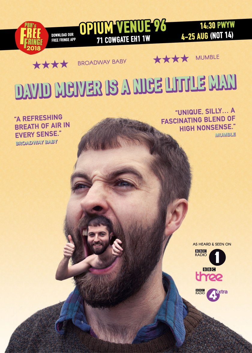 David McIver Nice Little Man Edinburgh Fringe