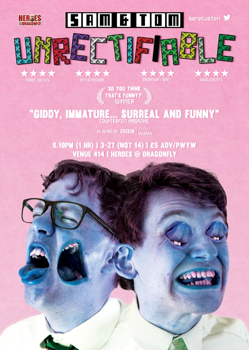Sam & Tom Unrectifiable Edinburgh Fringe
