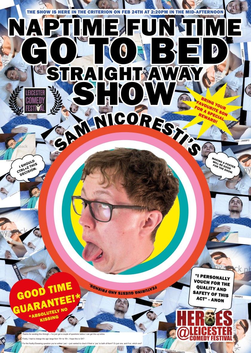 Sam Nicoresti Bedtime Leicester Comedy Festival