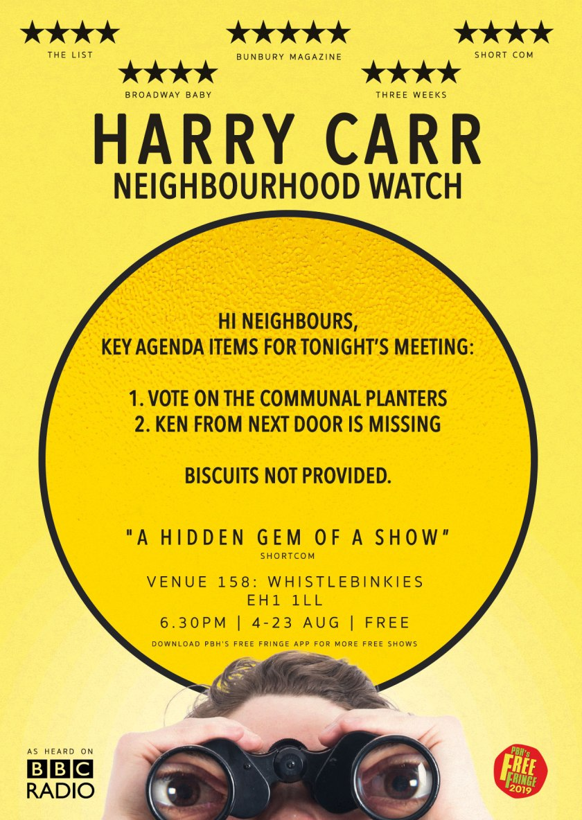 Harry Carr - Neighbourhood Watch (2019) Flyer Back
