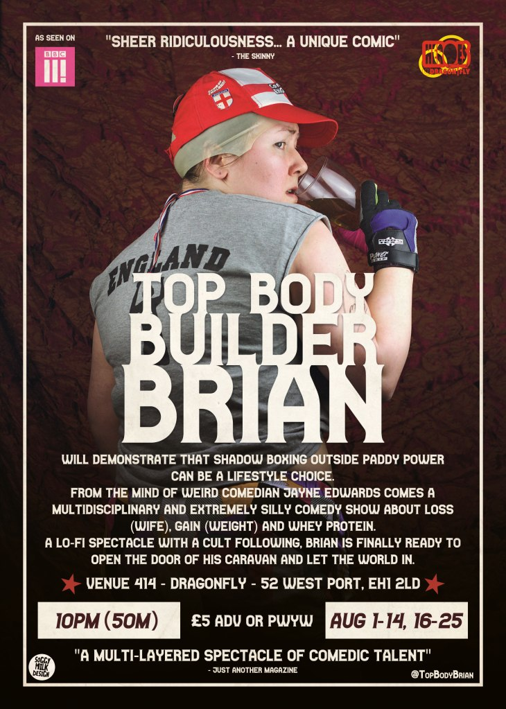 Jayne Edwards - Top Body Builder Brian (2019) Flyer Back