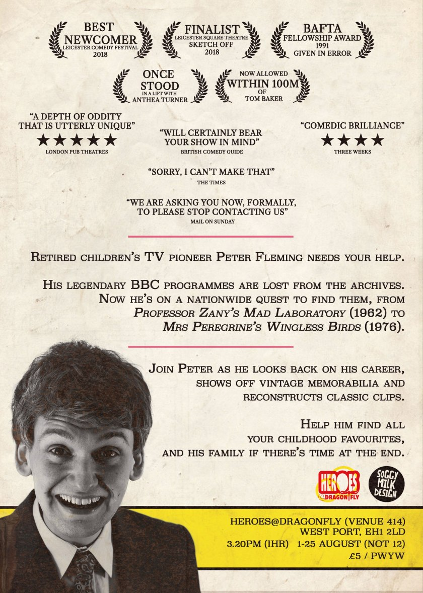 Peter Fleming - Have You Seen? (2019) Flyer Back