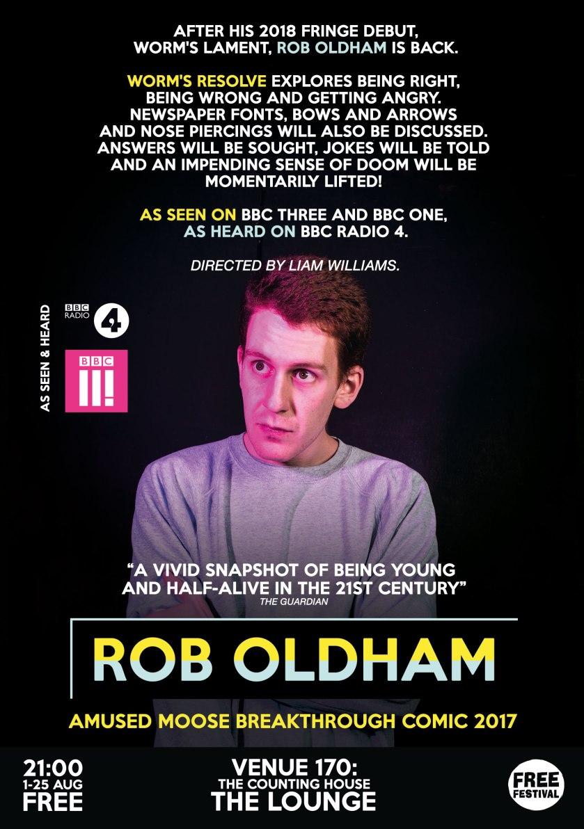 Rob Oldham - Worm's Resolve (2019) Flyer Back